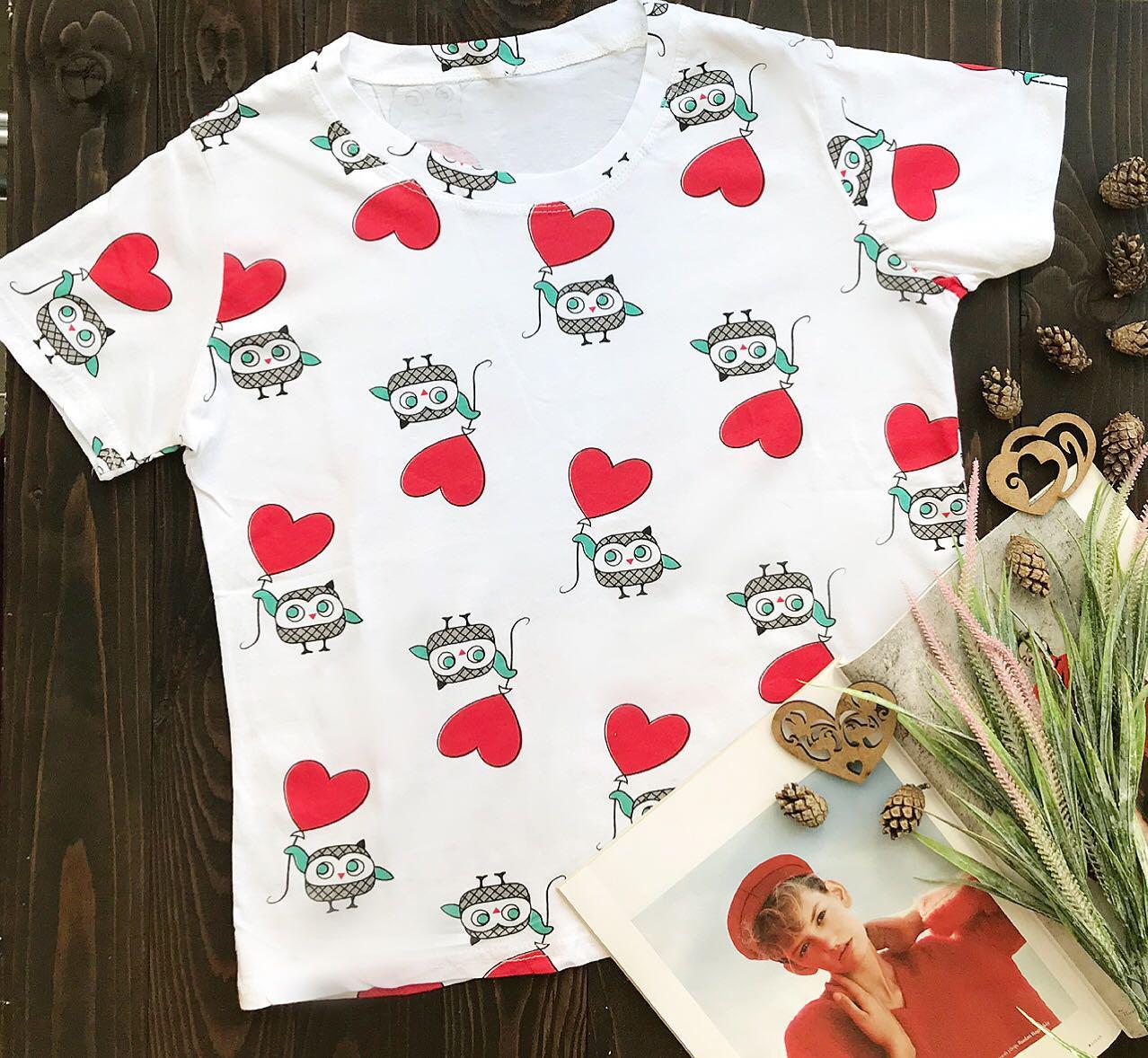 2cd651474e5 Женская белая футболка оптом и в розницу с совами  продажа