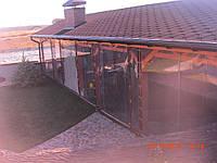 Мягкие окна ПВХ на большую террасу