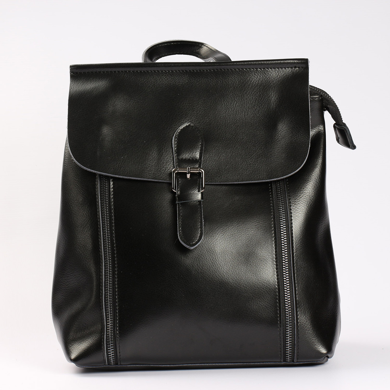 4fcdbfd2af3a Женский кожаный рюкзак-сумка (трансформер) на каждый день, черный