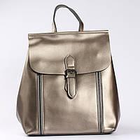 """Женский рюкзак-сумка из натуральной кожи, цвет серебро """"Милла Silver"""""""