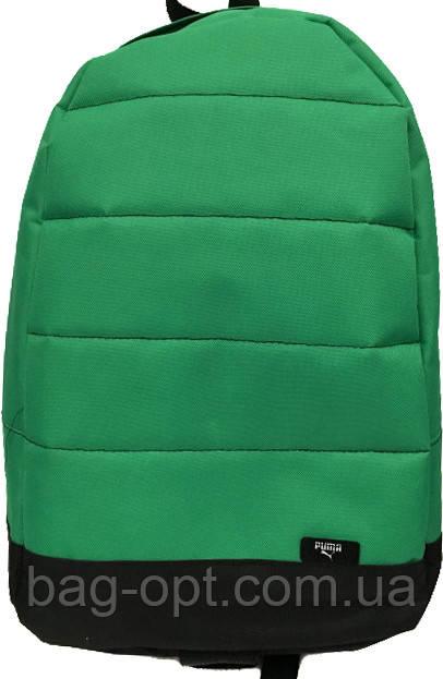 Рюкзак спортивный зеленый c вставками (42x30см) хлопок