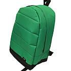 Рюкзак спортивный зеленый c вставками (42x30см) хлопок , фото 2