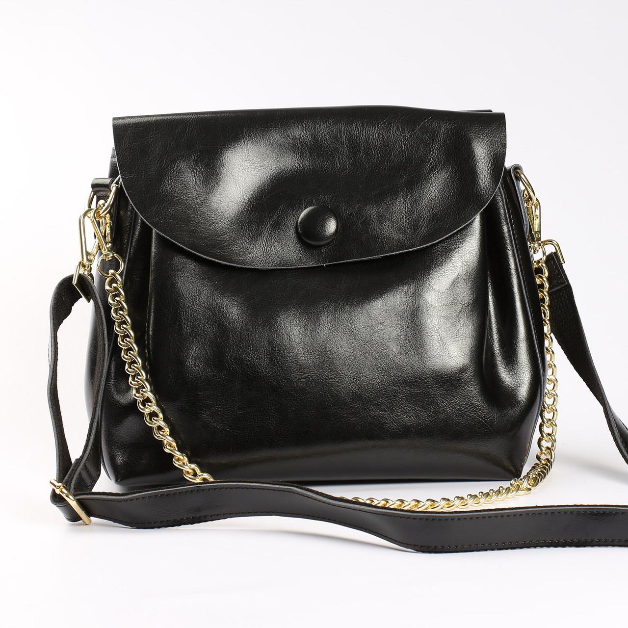7e5d9b4283df Женская сумка через плечо из натуральной кожи