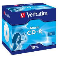 Диск CD Verbatim 700Mb 16x Jewel Case 10 Pack Music (43365)