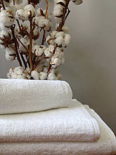 Махровое полотенце 70х140, 100% хлопок 430 гр/м2, Туркменистан, белый
