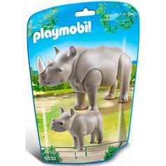 Игровой набор Носорог с детёнышем, Playmobil 6638