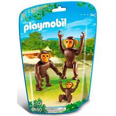 Набор фигурок Семья шимпанзе, Playmobil 6650