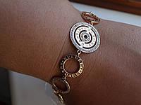 Хит! Позолоченый Дизайнерский браслет в стилистике  Bvlgary (булгари)