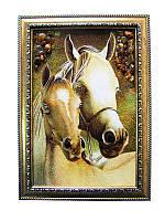Картина из янтаря средняя Кони (Картины и иконы из янтаря)