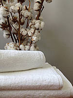 Махровое полотенце 30х50, 100% хлопок 430 гр/м2, Пакистан, белое