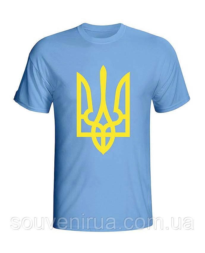 Футболка Желтый Тризуб (мужская) ФО (Патриотические футболки) -  Интернет-магазин