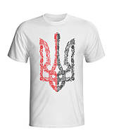 Футболка Тризубец красно-черная (мужская) ФО (Патриотические футболки) 1ac30502febde