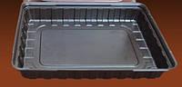 Упаковка для суши коричневая с крышкой 27,8х19,5см, ПС-61ДК, 180 шт/уп