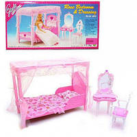 """Мебель """"gloria"""" 2614 для спальни, кровать, туалетный столик, в кор.33*17*5,5см"""