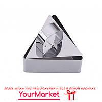 Форма для формирования гарнира с выталкивателем треугольник 4 см 17846VT