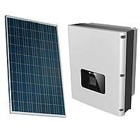 Комплект обладнання для сонячної електростанції 10 кВт (сонячні панелі ABi-Solar + інвертор Huawei)