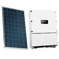 Комплект обладнання для сонячної електростанції 30 кВт (сонячні панелі ABi-Solar + інвертор Huawei)