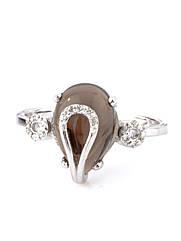 Кольцо серебряное с раухтопазом R-926 (р.17.0)