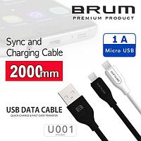 Кабель USB cable BRUM Classic U001m Micro USB (1A) (2M) черный