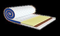 Топпер тонкий матрас скрутка с памятью Memo 2в1 Kokos (стрейч) Sleep&Fly Mini 70x190 см