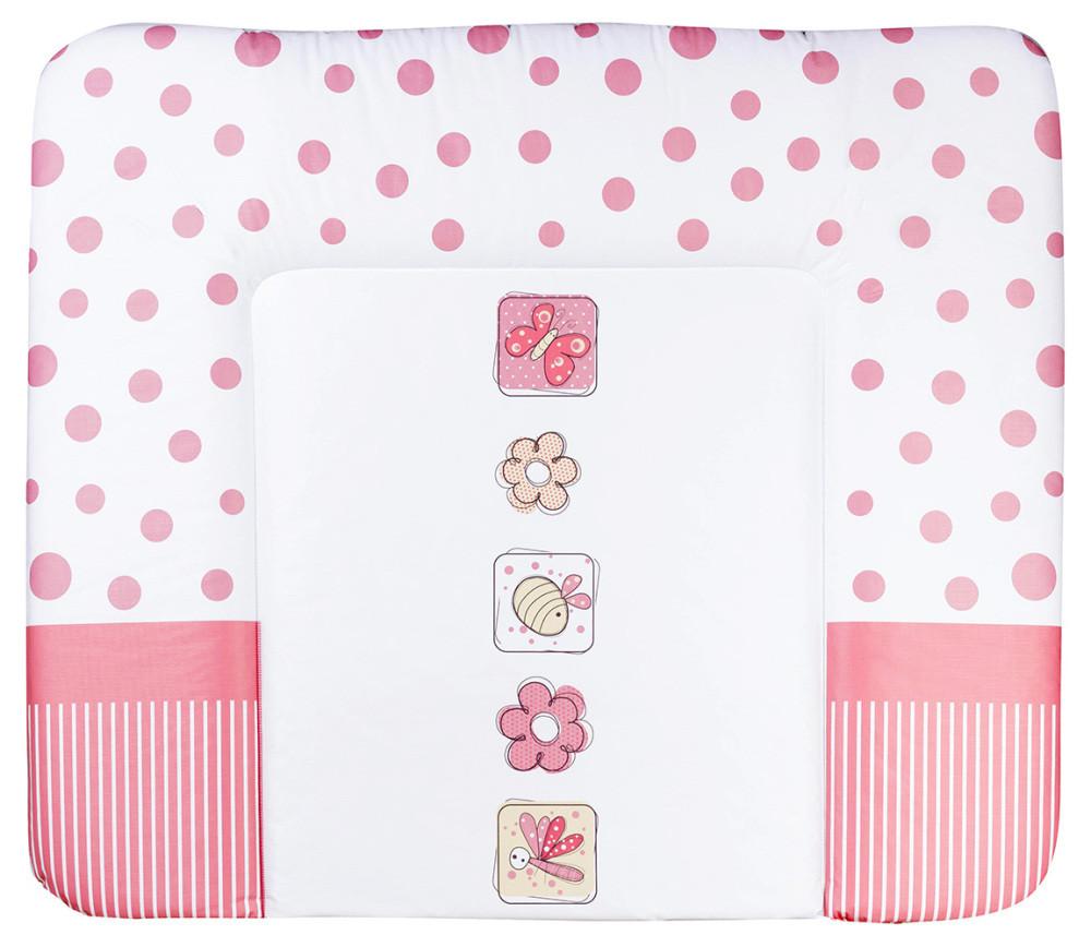 Пеленальний матрац Ceba Baby WD 85*70 multi квіти білий в червоний горох