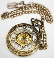 Часы карманные с крышкой на цепочке . Золотой корпус Антон / 041