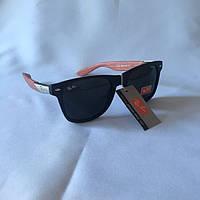 Солнцезащитные очки Полароид Ray Ban Wayfarer черный дерево