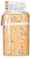 Термоконтейнер Ceba Baby Double   85*155*230мм*2шт бутылочки  оранжевая (мишки с волшебной палочкой)
