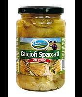 Артишоки резанные в масле Carciofi Spaccati Ortomio 340гр