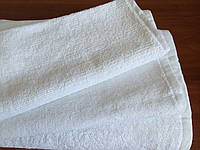Махровое полотенце 30х50, 100% хлопок 500 гр/м2, Пакистан, белое