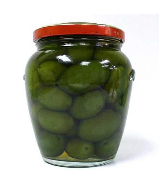 Оливки зеленые крупные Olive Verdi  Cerignola Ortomio 600мл