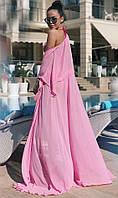 Пляжная накидка розовая 41244