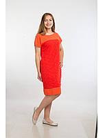 Летнее платье делового стиля, отличный вариант в жаркую погоду, для работы, на каждый день,  р.52 код 5155М