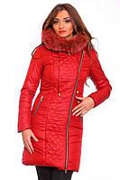 Зимняя женская куртка с капюшоном и натуральным мехом, фото 1