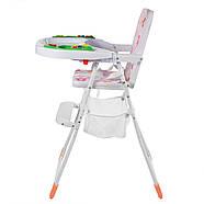 Яркий музыкальный стульчик для кормления Bambi М 0405-2 , фото 3