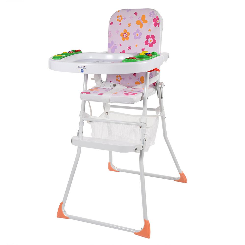 Яркий музыкальный стульчик для кормления Bambi М 0405-2