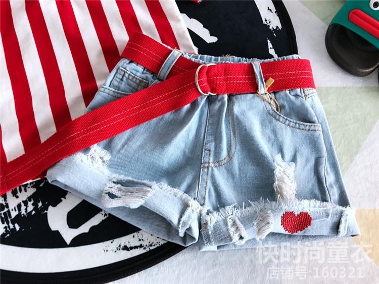 Детские шорты на девочку сердце
