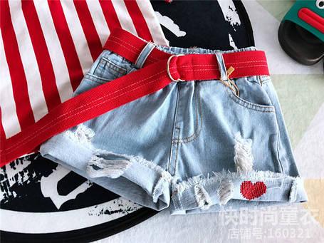 Детские шорты на девочку сердце , фото 2