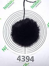 Меховой помпон Кролик, Т. Шоколад, 9 см, 4394, фото 3