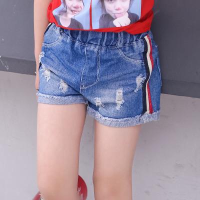 Детские шорты джинсовые полоса