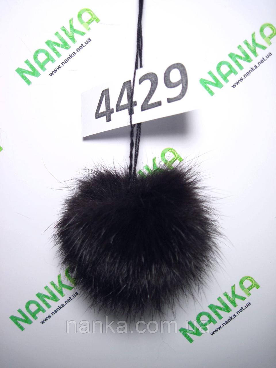 Меховой помпон Кролик, Т. Шоколад, 7 см, 4429