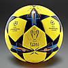 Футбольный мяч Adidas Champions League football Finale Lisbon 2014 Yellow/Tribe Blue/Solar Blue