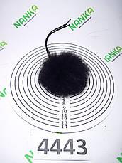 Меховой помпон Кролик, Т. Шоколад, 6 см, 4443, фото 2