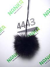 Меховой помпон Кролик, Т. Шоколад, 6 см, 4443, фото 3