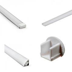 Профіль для світлодіодним LED стрічки (алюмінієвий).