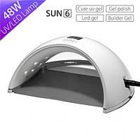 Гибридная Лампа для маникюра UV/LED SUN 6 48 Вт гель лак для сушки ногтей Оригинал
