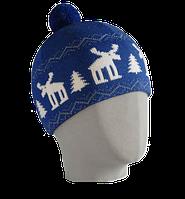 Шапка мужская вязаная Oxygon Karelia синий/белый