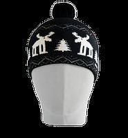 Шапка мужская вязаная Oxygon Karelia черный/белый