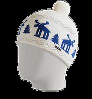 Шапка мужская вязаная Oxygon Karelia белый/синий