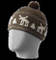 Шапка мужская вязаная Oxygon Karelia коричневый/бежевый